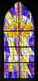 5 окно запятнанное стеклами Стоковое Изображение RF