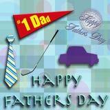 5 отцов дня счастливых Стоковые Изображения RF