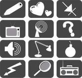 5 установленных икон Стоковое Изображение RF