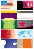 5 шаблонов визитных карточек Стоковое Изображение