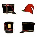 5 шлемов рождества иллюстрация штока