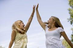 5 девушок высоко подростковых Стоковое Изображение RF