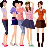 5 девушок Стоковые Изображения RF