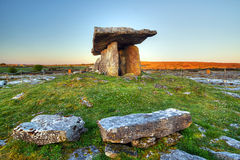 5 000 years old Polnabrone Dolmen. In Burren, Co. Clare - Ireland Royalty Free Stock Photo