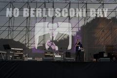 5 09 12 berlusconi日没有罗马 库存照片