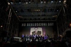 5 09 12 berlusconi日没有罗马 免版税库存照片