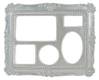 5-in-1 silver gray picture frame Stock Photography