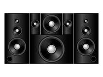 5.1 sound system. Elegant black 5.1 sound system Stock Image