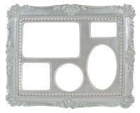 5 in-1 zilveren grijze omlijsting Stock Fotografie