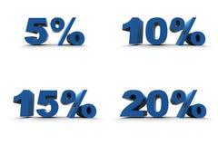 5-10-15-20% isolato Fotografie Stock Libere da Diritti