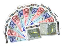 5, 10, intervallo dell'euro 20 Immagine Stock Libera da Diritti