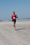 5 & 10 mile Winter Beach Run Stock Images