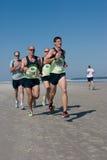 5 & 10 mile Winter Beach Run Stock Photo