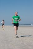 5 & 10 mile Winter Beach Run Stock Photos