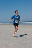 5 & 10 mile Winter Beach Run Stock Photography