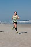 5 & 10 mile Winter Beach Run royalty free stock photos