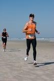 5 & 10 mile Winter Beach Run Stock Photography