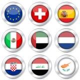 5个按钮标志国民集 免版税库存照片