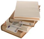 5 20 50 book euro Arkivbilder