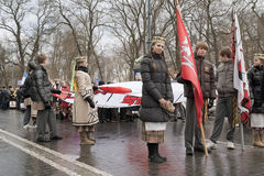 5 2011 marscherar vilnius Arkivbilder