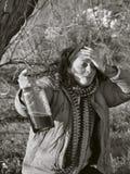 5醉酒的妇女 库存照片