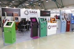 5 23 25 торговый автомат в марше 201 выставки международный Стоковая Фотография