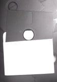 5.25 velhos de disco flexível no envelope em branco Fotografia de Stock