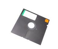 5.25 viejos del disco blando con la escritura de la etiqueta en blanco Fotos de archivo libres de regalías