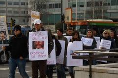 5/3/2011 Mailand-- Corteo Staatsangehöriger antivivisection Lizenzfreie Stockbilder