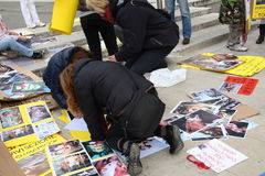 5/3/2011 Mailand-- Corteo Staatsangehöriger antivivisection Stockfoto