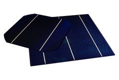 5 & 6 inch Solar-Cells. A 5 & 6 isolated Solar-Cells Royalty Free Stock Photos