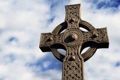 Каменный кельтский крест 5 Стоковое Изображение RF