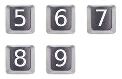 5 9五九个编号 免版税库存照片