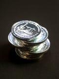 5枚硬币 库存照片