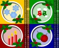 5 adventkalenderjul Arkivbild