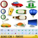 5 affärssymboler Arkivbild