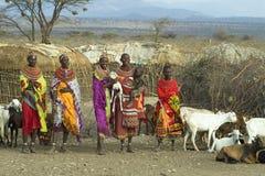 5 afrikanska folk Fotografering för Bildbyråer
