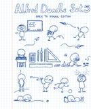 5 Alfred doodle set Obrazy Royalty Free