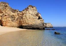5 algarve海滩 免版税库存图片