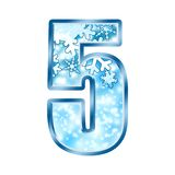 5 alphabet five number winter Στοκ Εικόνα
