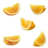 5 altas particiones de la naranja del res Fotos de archivo