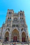 5 amiens大教堂法国 库存图片