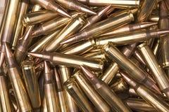 5 amunicji 56mm nato Zdjęcia Royalty Free