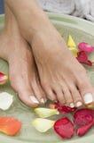 5 aromatherapy fot som kopplar av brunnsorten Arkivfoton