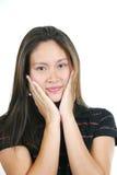 5 asiatiska attraktiva flickabarn Royaltyfria Foton