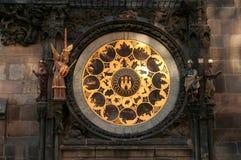 5 astronomical klocka prague Arkivbild