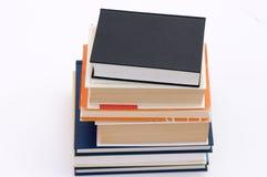 5 böcker ingen stapel Arkivbild