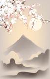 5 baner japan Arkivfoton