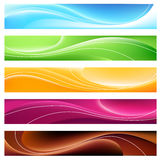 5 banners Stock Illustratie