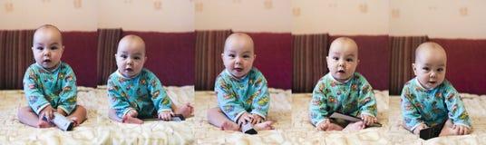 5 behandla som ett barn poserar Arkivfoto